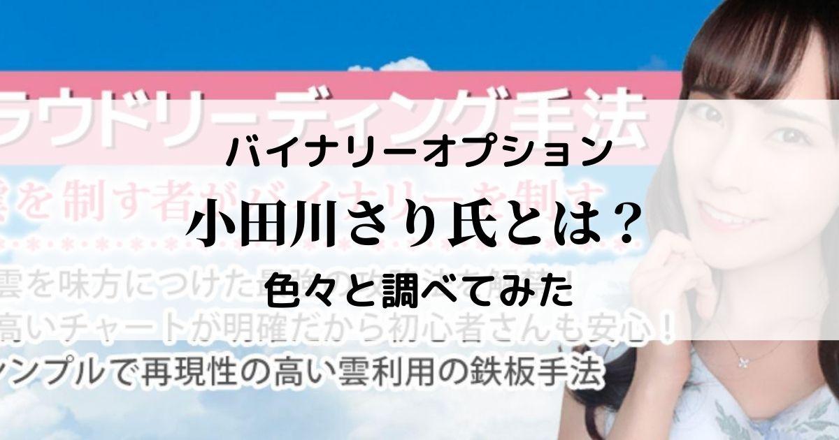 本当に勝ってる?小田川さり(SARI)とはいったい何者なのか調べてみた。バイナリーオプション