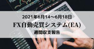 【FX自動売買(EA)週間収支報告】6月14日~6月18日 +19,738円