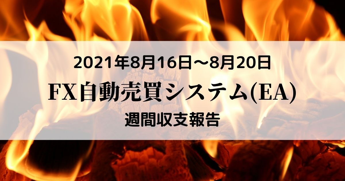 【FX自動売買(EA)週間収支報告】8月16日~8月20日+32,202円