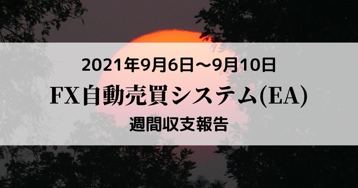 【FX自動売買(EA)週間収支報告】9月6日~9月10日+10,004円